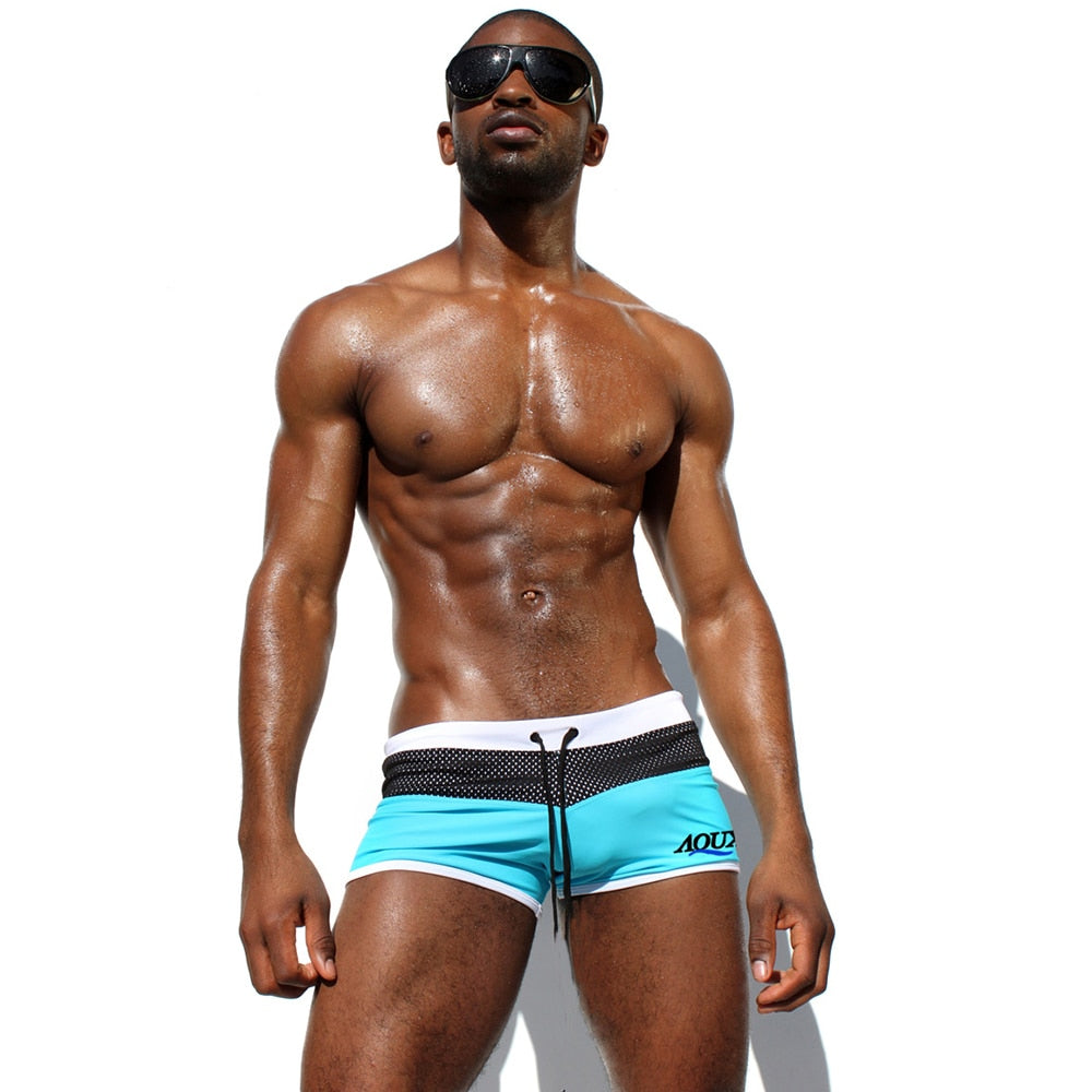 Men's Swimming trunks Sexy Nylon Mesh High Quality beach short  Swimwear  gay Swimsuit Man Surfing Male Swim Suit Underpants