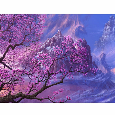 CHUNXIA Framed DIY Painting By Numbers Landscape Acrylic Painting Modern Picture Home Decor For Living Room 40x50cm RA3454