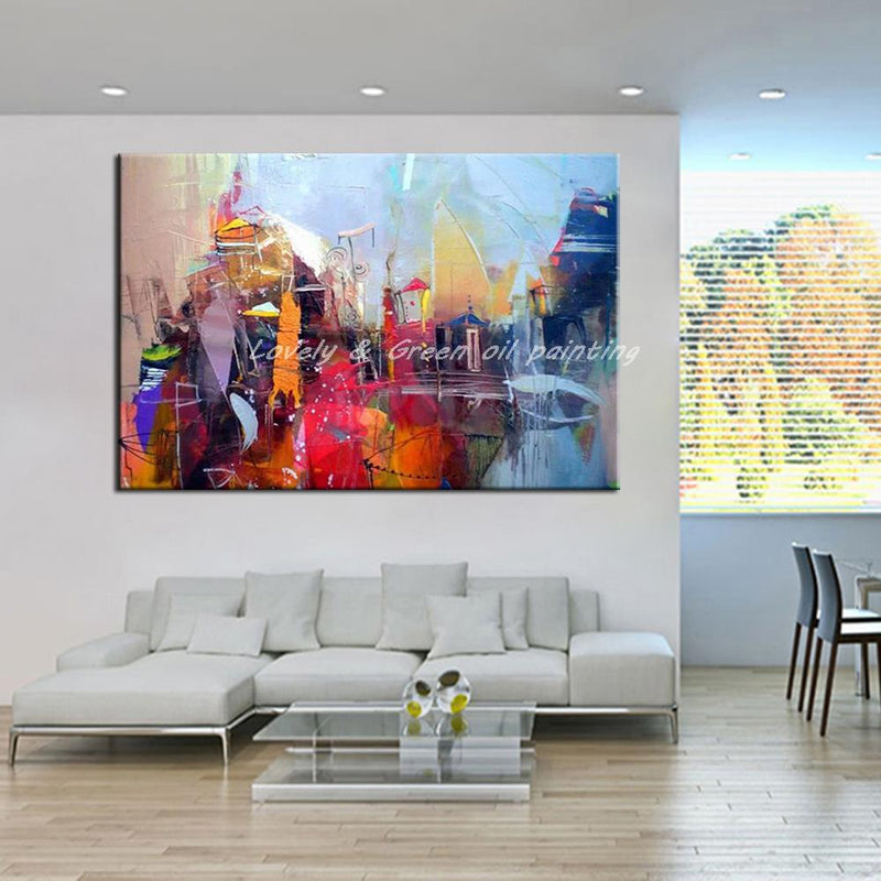 100% Hand Painted Modern Abstract Oil Painting On Canvas Wall Art Picture For Living Room Offiece Decoration No Framed