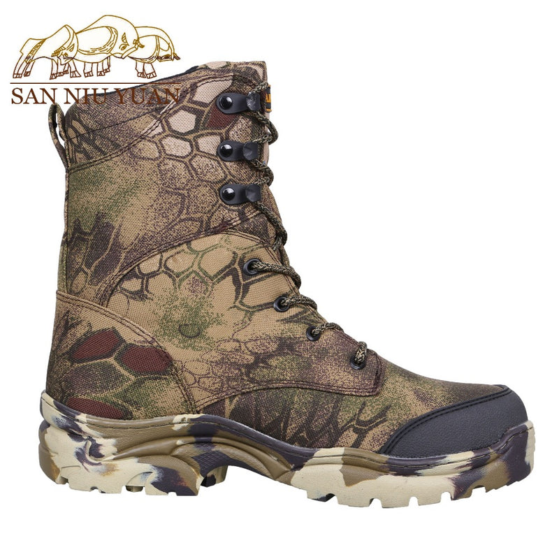 2019 New Arrive Men's Spring Summer Autumn Waterproof Boots Outdoors Jungle Bionics Camouflage Boots Training Climbing Shoes