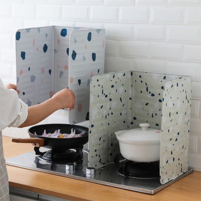 Hoomall Cooking Frying Pan Splash Oil Plate Splash Proof Baffle Oil Guard Resistence Stove Scald Proof Covers Board Gas Stove