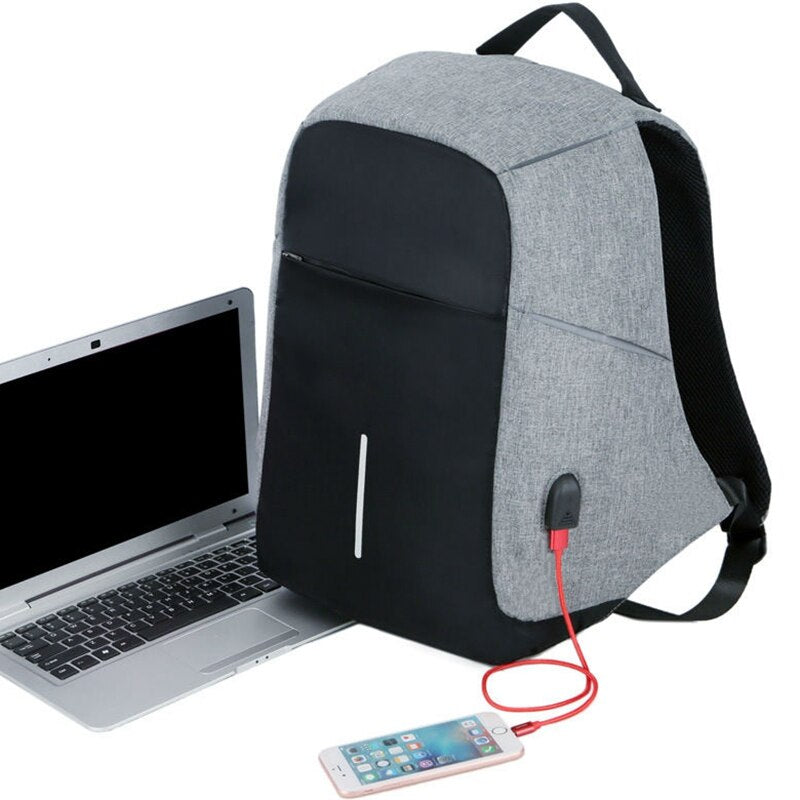 Men Anti theft Backpack USB Charging 15.6 Laptop Backpack Multifunction Waterproof Travel Bagpack women High Quality School bag