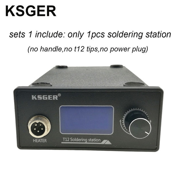 V2.1S T12 Digital Temperature Controller Soldering Station Electric Soldering Iron Tips T12-K + 907 Handle
