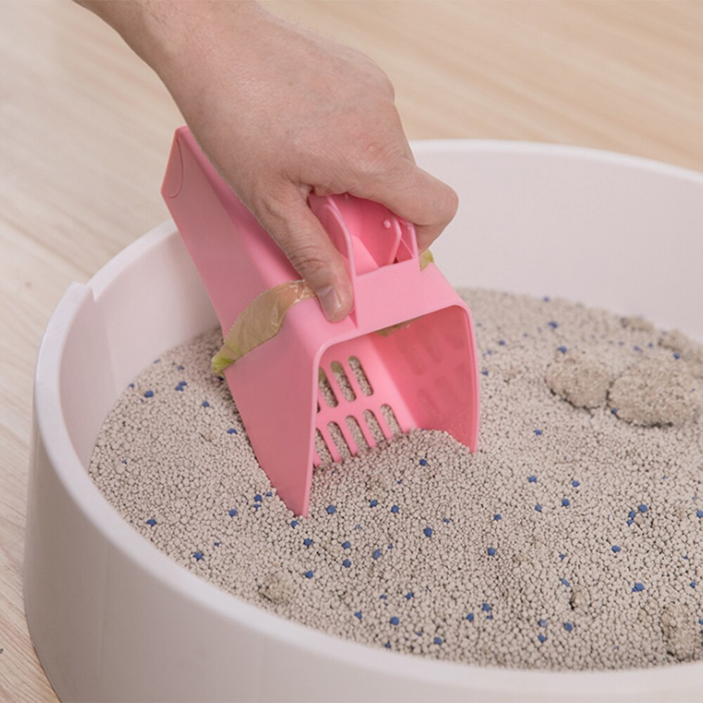 Cat Litter Scoop With Waste Bag Holder