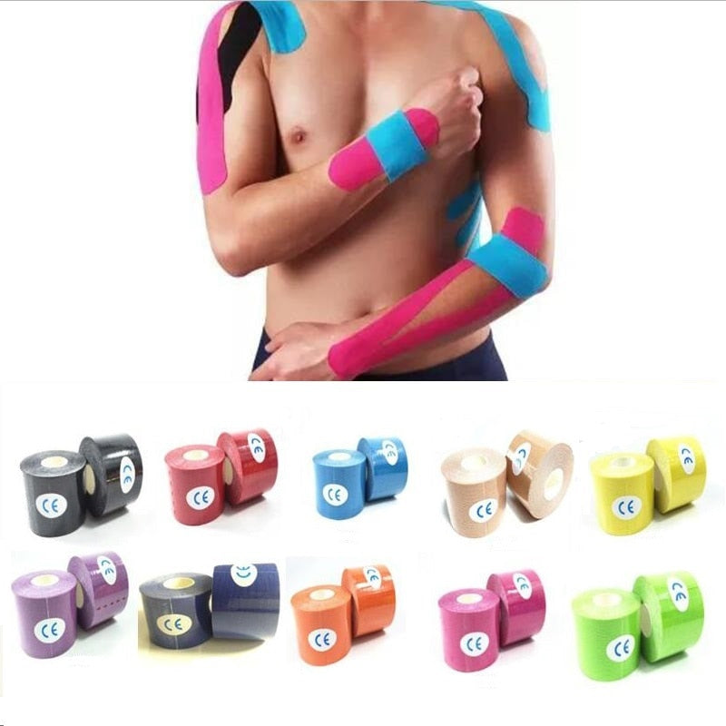Kinesiology tape adhesive sport muscle tape