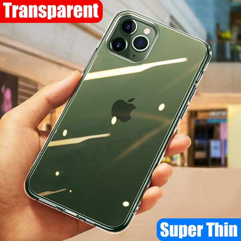Transparent Soft Phone Case For iPhone 11 & more..