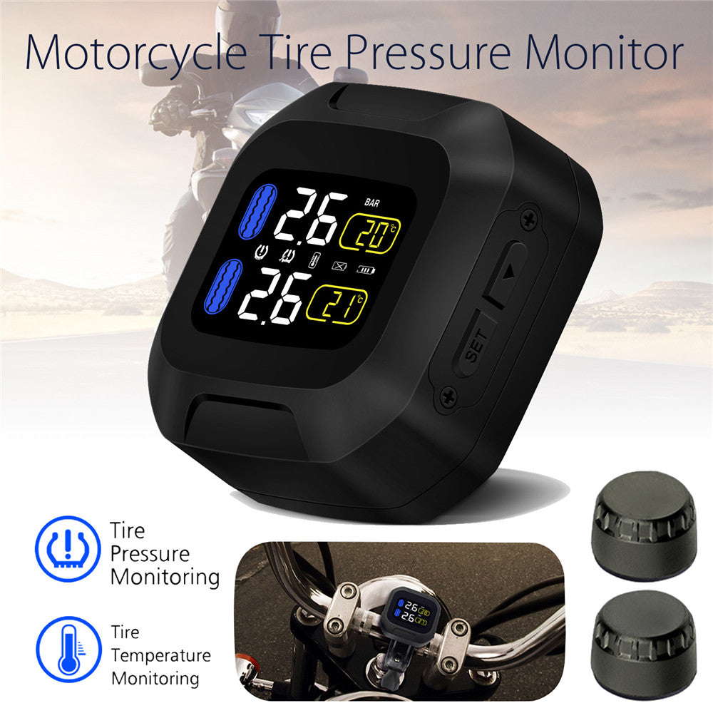 M3 LCD Motorcycle TPMS Tyre Pressure Monitor System