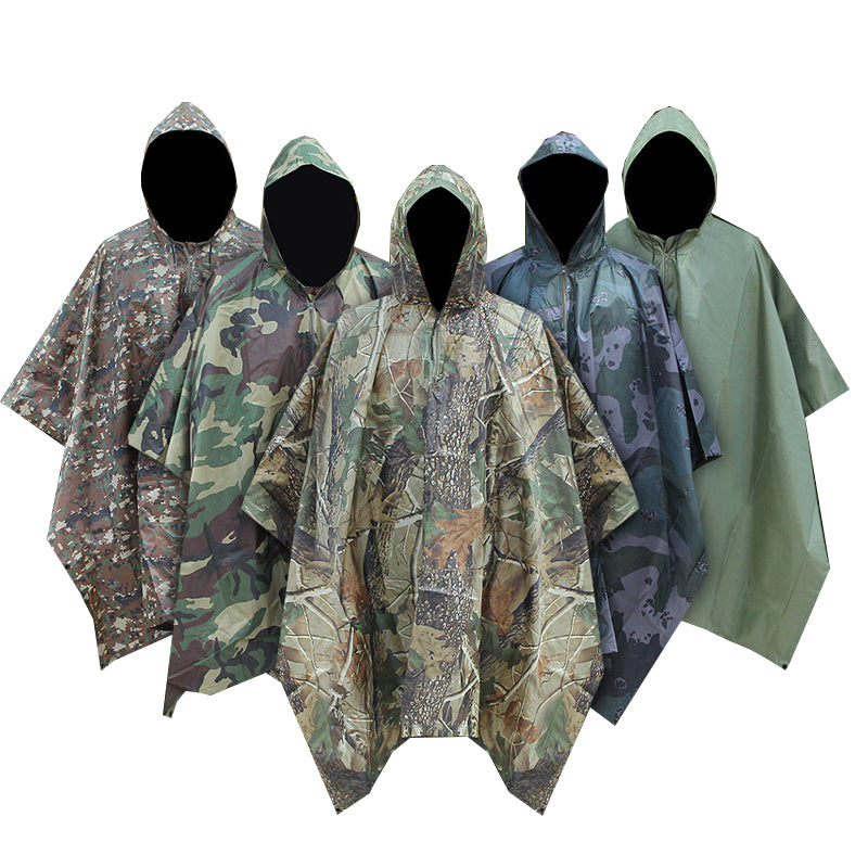 Military Impermeable Camo Raincoat for Men