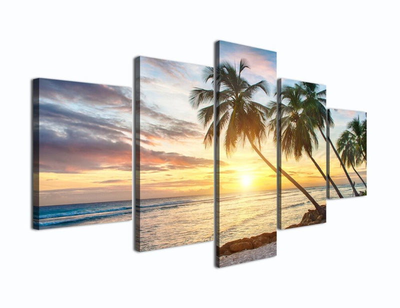 Modern Beach Painting Beautiful Large Sunset