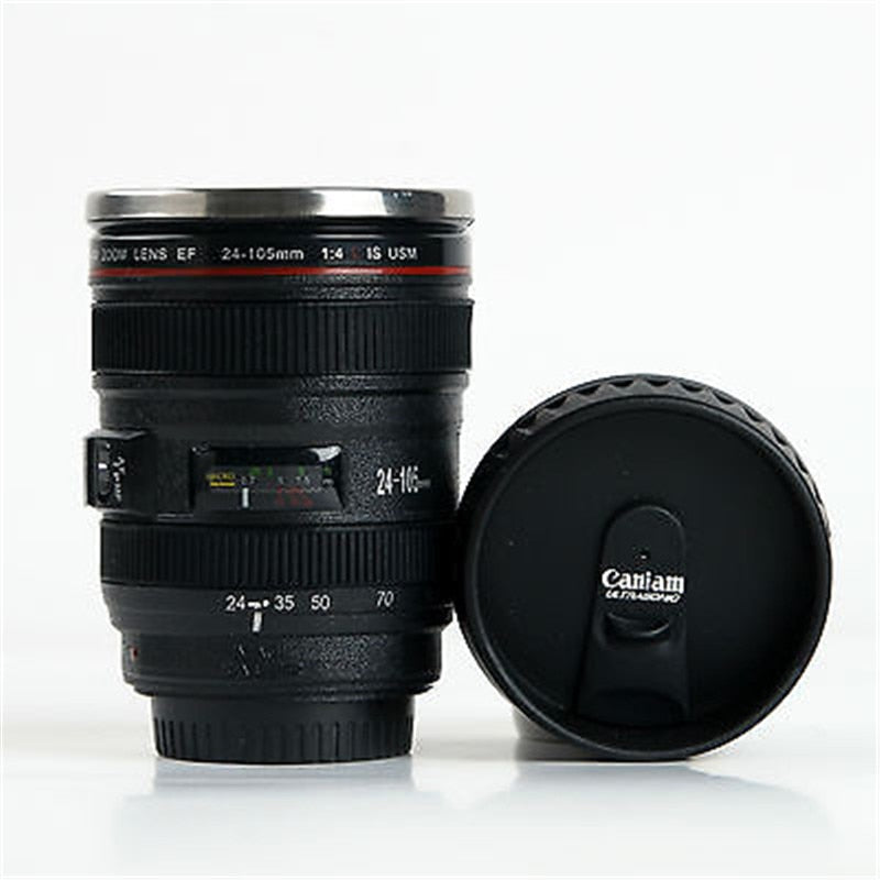 24-105MM Lens THERMOS Camera Travel Coffee Tea Mug