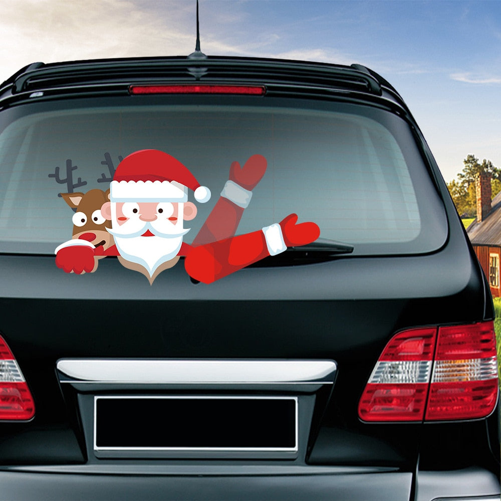 New Car Rear Wiper Decal Sticker Christmas Decoration