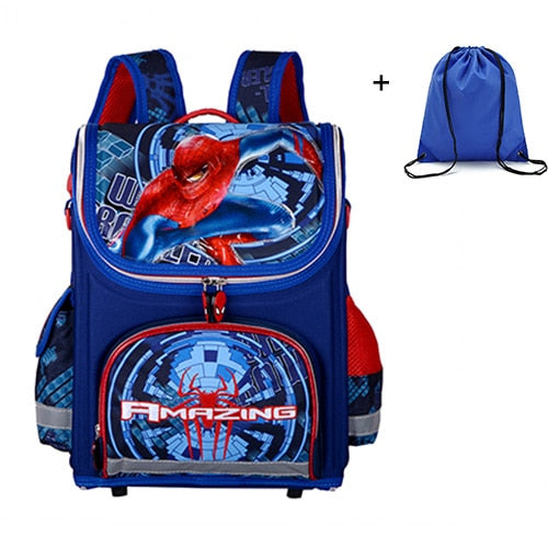 Spiderman Orthopedic Waterproof Backpacks