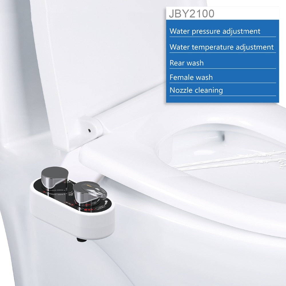 Non-Electric Bidet Toilet Seat Bidet Attachment Self-Cleaning Nozzle