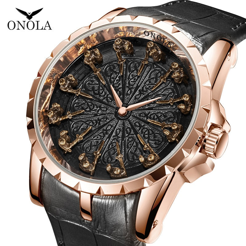 ONOLA brand unique quartz watch
