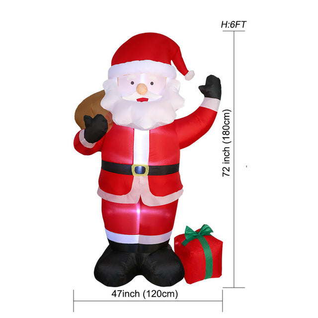 OurWarm 150cm Giant Inflatables Santa Claus Christmas 2018 Airblown Inflatable Statue Outdoor Yard Garden New Year Decoration