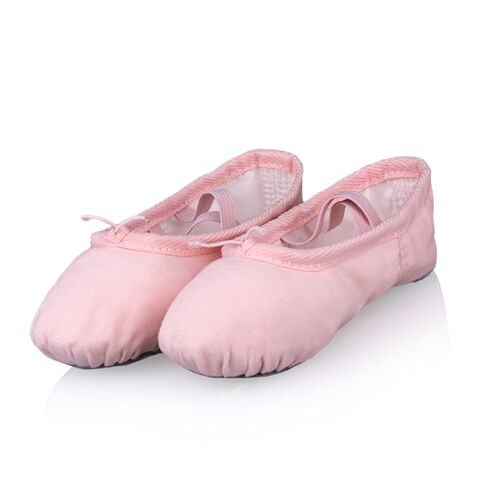 Professional Cotton Canvas Soft  Ballet Dancing Shoes for Kids