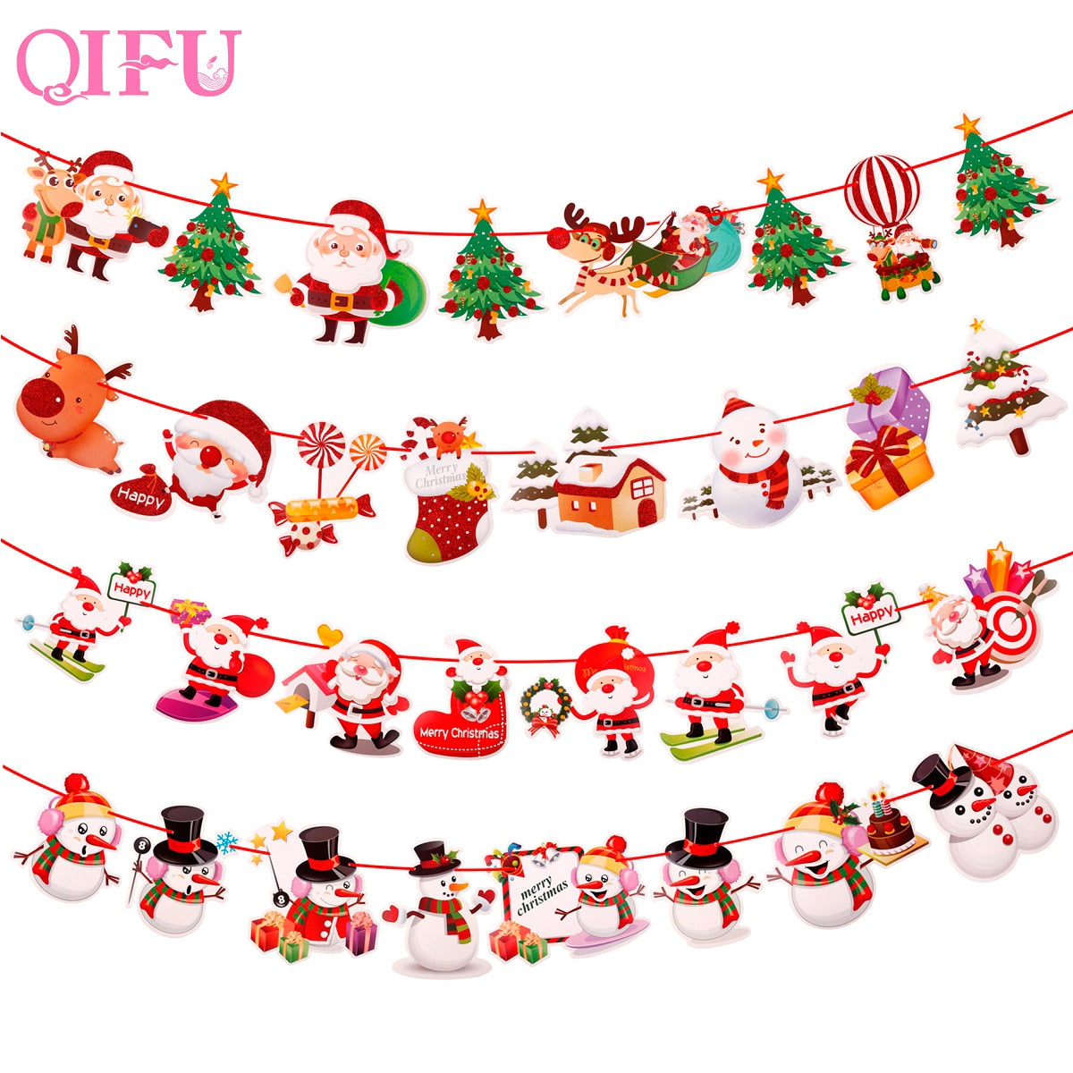 QIFU Merry Christmas Decorations For Home 2019 Navidad Xmas Tree Lights Christmas Ornaments Christmas Gifts Happy New Year 2020