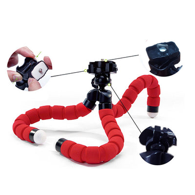 Mini Flexible Tripod Phone Holder for iPhone Cellphone DSLR Camera, Gopro Hero 5 4 3 SJ4000 5000