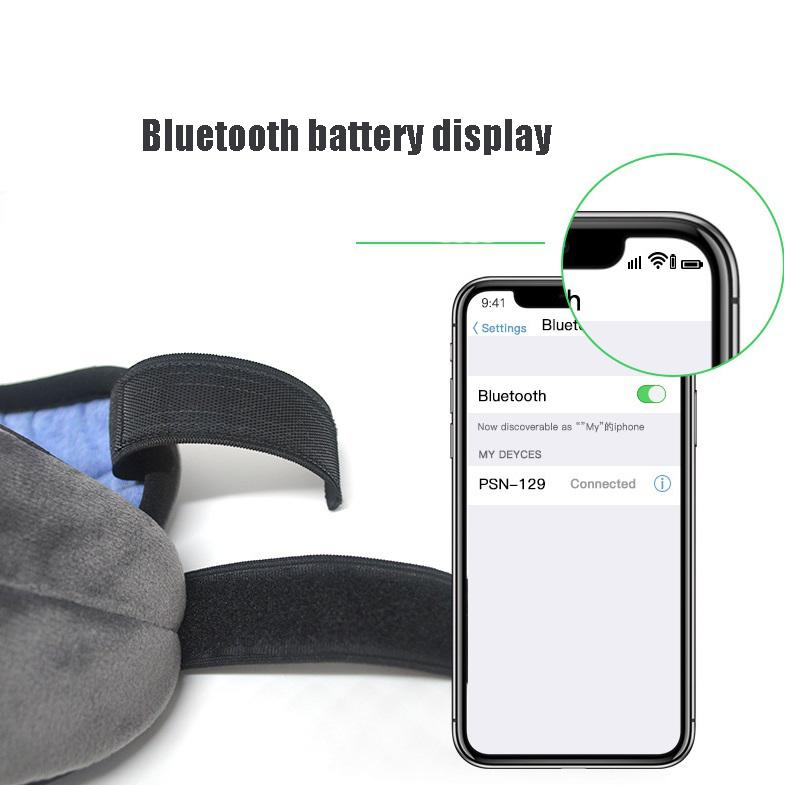 Wireless Sleep Eye Mask with Built-in Speakers Mic Handsfree d25