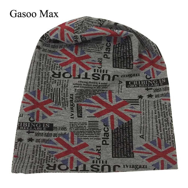 100% Cotton Women & Men Sleeve Beanie Cap