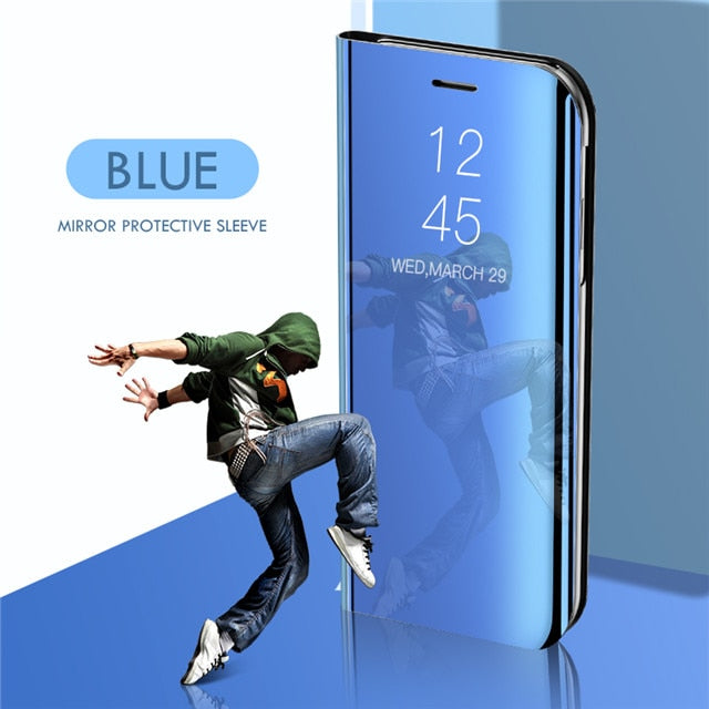 Smart Mirror Phone Case For Samsung Galaxy S10 S9 S8 Plus S10E A6 A8 A7 2018 Note 8 9 A10 A30 A40 A50 A60 A70 M10 M20 M30 Cover