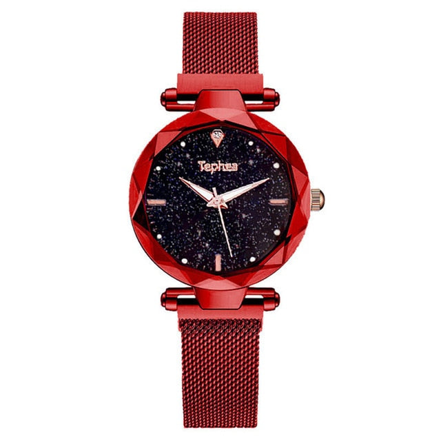 Starry Sky Ladies Wrist Watches For Women Quartz Magnetic Women Bracelet Watch Luxury Luminous relogio feminino 2019 reloj mujer
