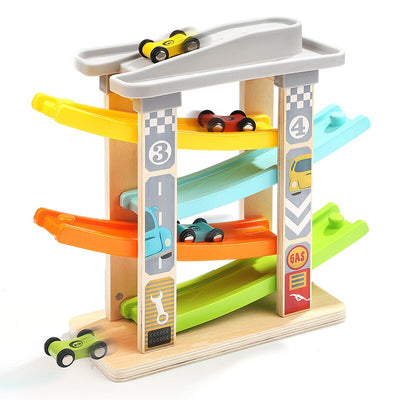 Children Educational Rail Car Sliding Toy