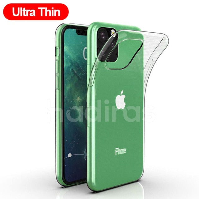 Transparent Silicone Case for iPhone 11 and more..