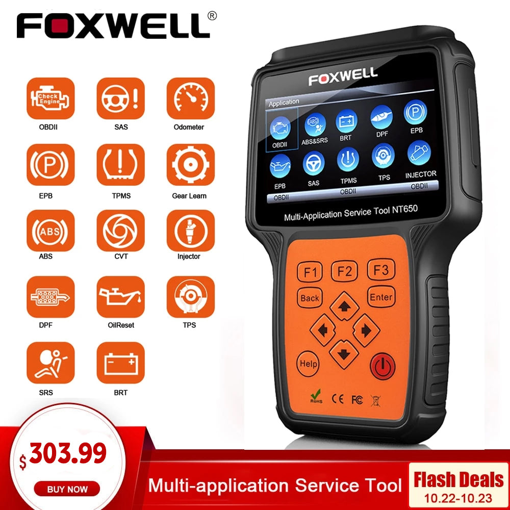 FOXWELL NT650 OBD2 Automotive Scanner