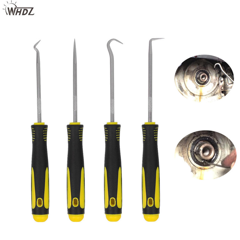 WHDZ  Durable Car Hook Craft Hand Tools 4Pcs  Oil Seal O-Ring Seal Remover Pick Set