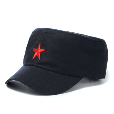 Unisex  Red Star Cotton Army Cadet Military Cap