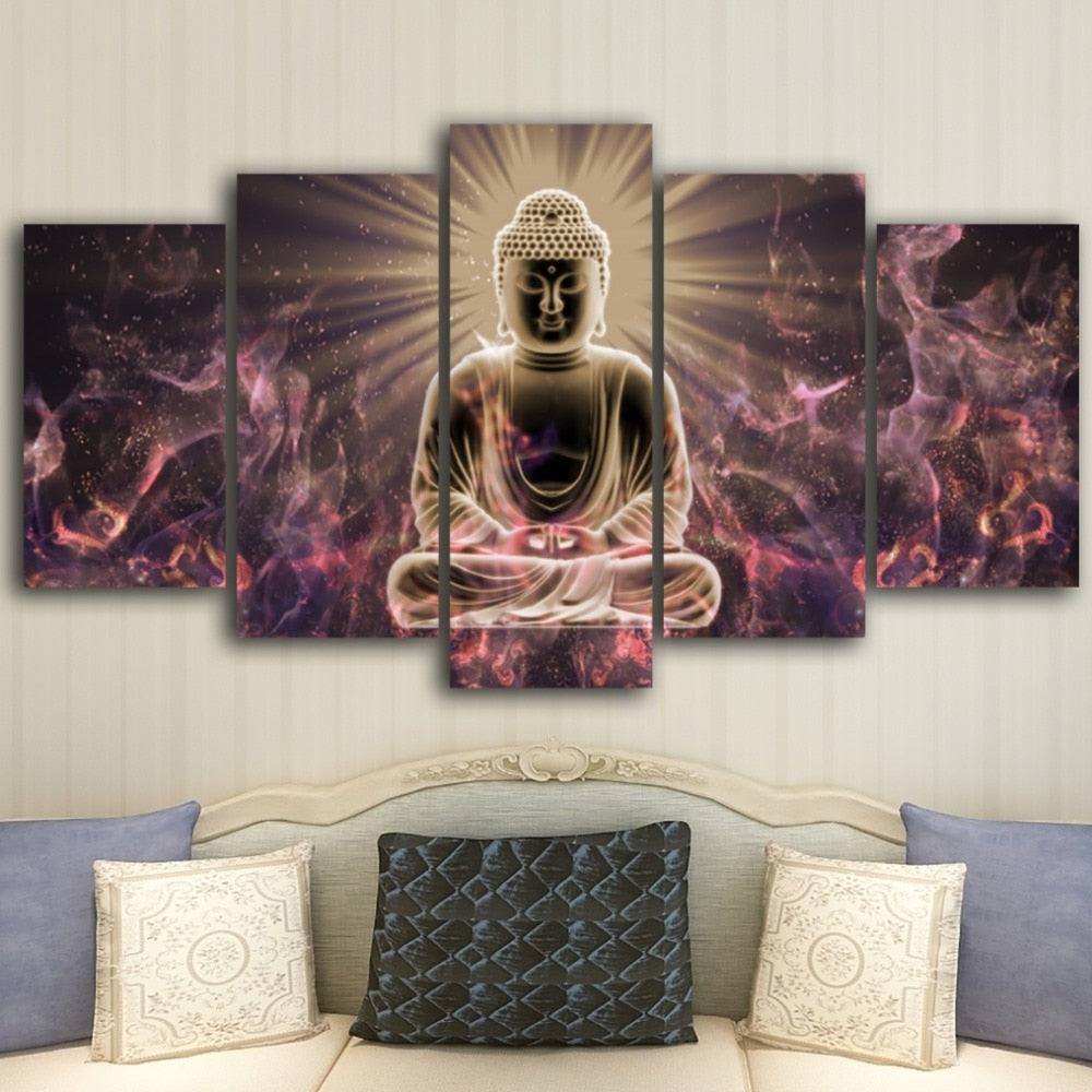 abstract buddha Buddhism meditation canvas Painting