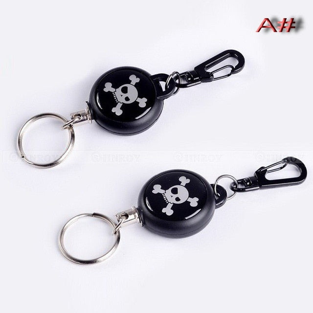 EDC Outdoor Steel Rope Burglar Keychain Tactical Retractable Key Chain Camping Key Ring