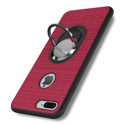 FLOVEME Phone Cases for iPhone 7 6 5s Stand Holder Metal Ring