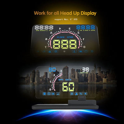 Onever Head UP Display Car Dash Mount Cell Phone Holder