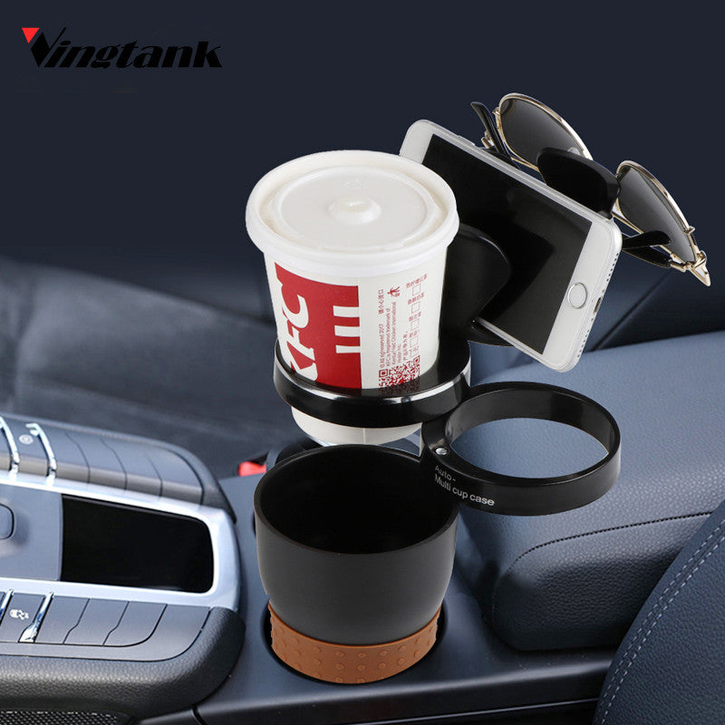 Vingtan MultiFunction Car Phone Holder Storage Box Drink Cup Holder Auto Glasses Holder Car Organizer for Coins Keys Phone Stand