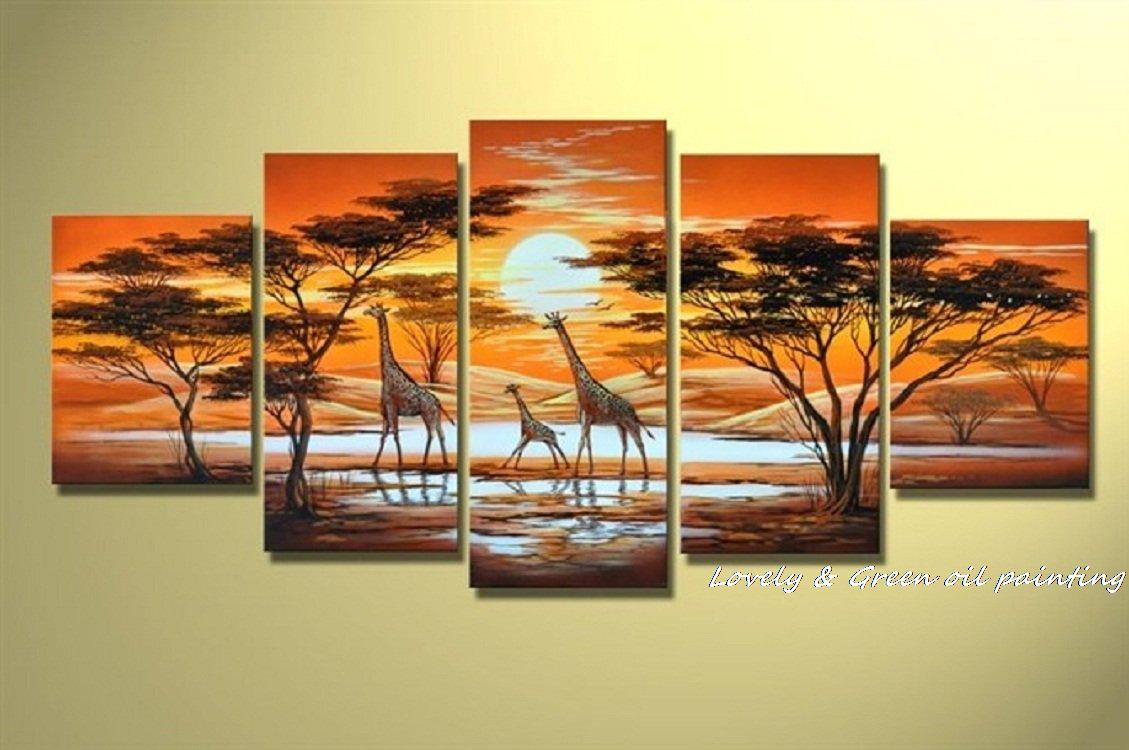 5 Pieces Hand Painted Modern Abstract