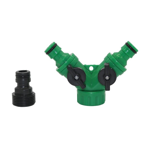 "Y Shape Connector With 3/4""Male Thread Tap"