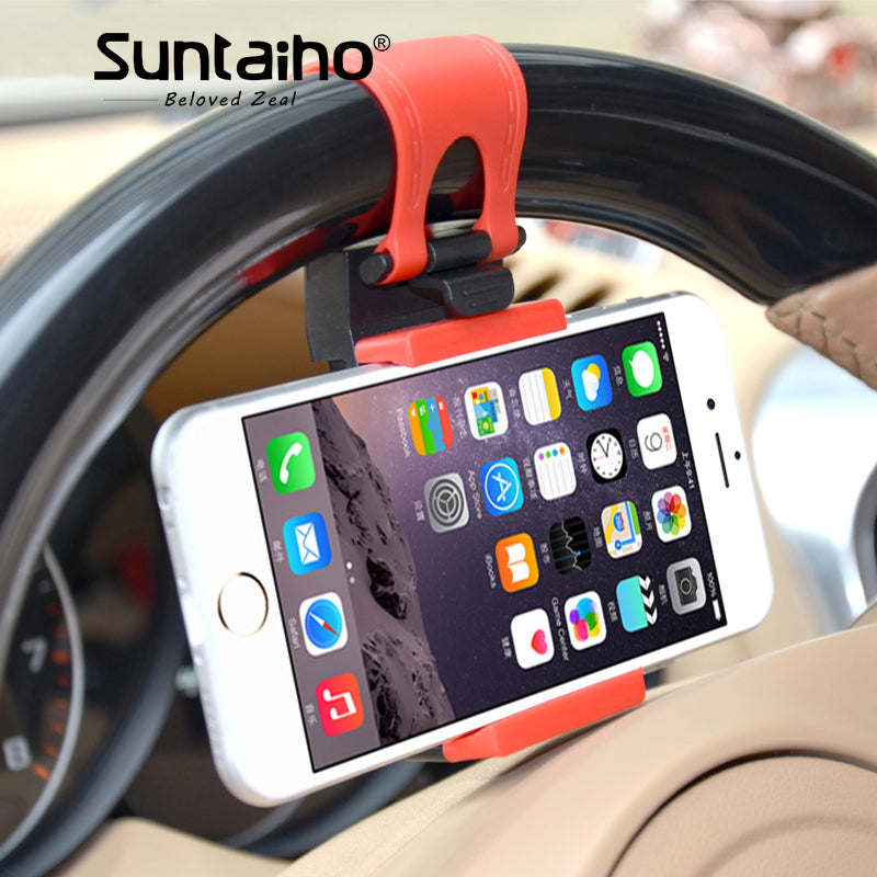 Car Steering Wheel Clip Mount Phone Car Holder
