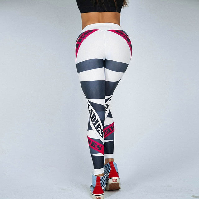 Gizmosy Mesh Pattern Print Leggings For Women