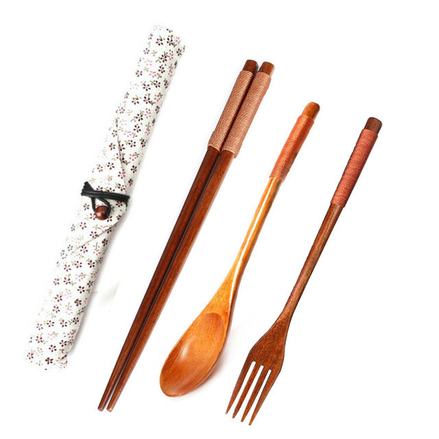 Wooden Portable Cutlery Sets