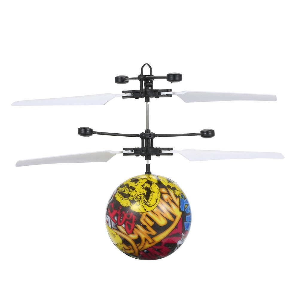 Infrared Induction Flash Flying Intelligent Helicopter Ball