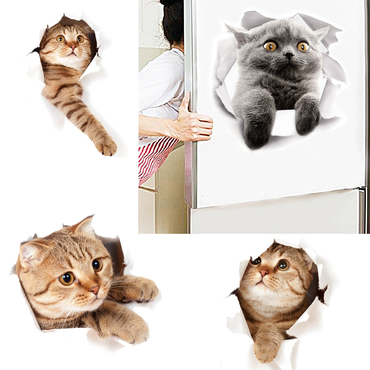 Cartoon Animal 3d Toilet Stickers