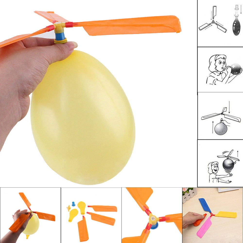 Flying Balloon Helicopter Child Toy