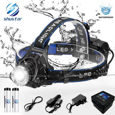 LED headlamp fishing headlight 6000 lumen