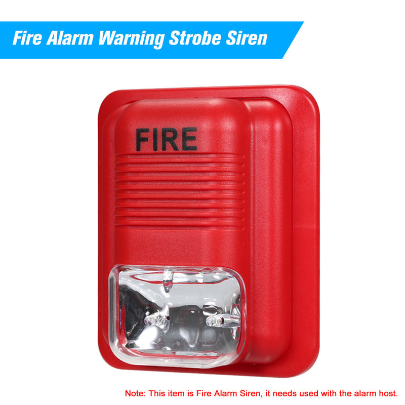 Fire Alarm Warning Strobe Siren Horn Sound