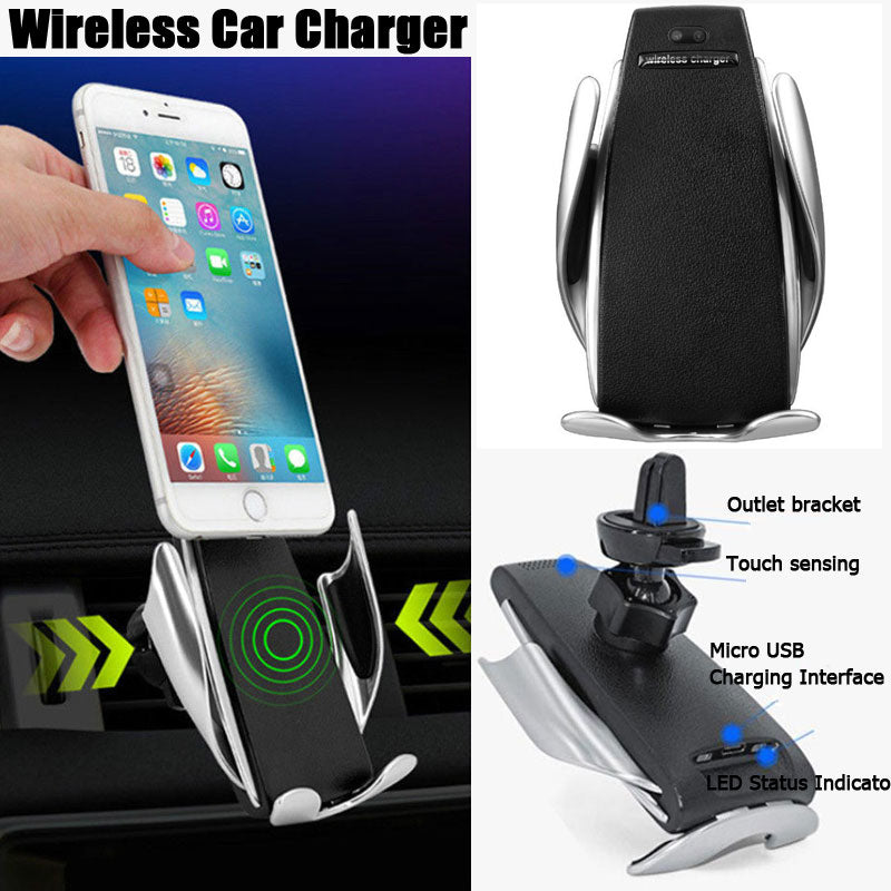 Smart Automatic Clamping Wireless Car Fast Charger For IPhone  & Android phones