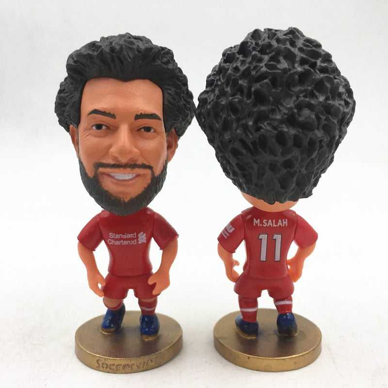 Soccerwe Soccer Star Dolls LIV 11 Mohamed Salah Figurine Red Kit 2019 Season