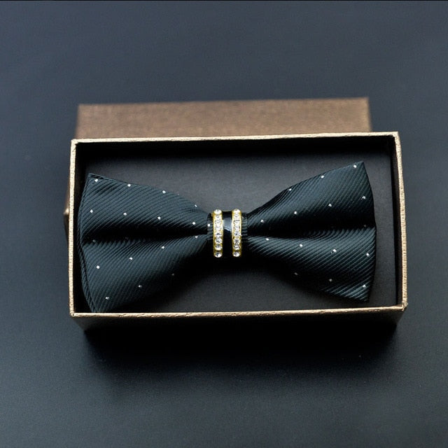 Diamond-studded Groom Bow Tie Wedding Groomsmen Metal Bow