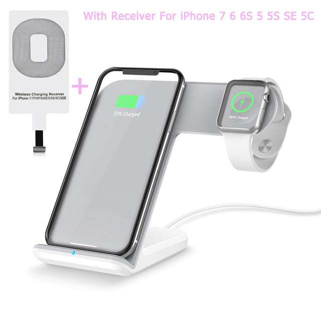 Wireless Charger Dock Stand Holder For Aplle iWatch 2 & iPhones